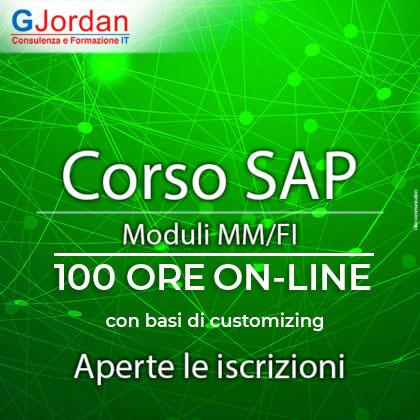 Corso Online SAP moduli MM/FI 100 ORE - con basi di Customizing - APERTE LE ISCRIZIONI